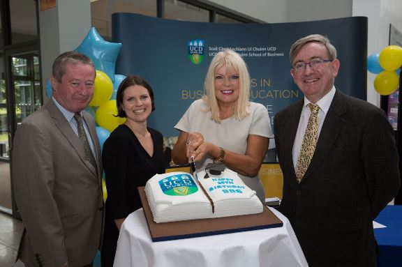Prof Brian Fynes, Associate Dean International; Dr Orna O'Brien, CDL Director; Mary Mitchell O'Connor, Minister of State for Higher Education, and Prof Ciarán Ó Hógartaigh, Dean of UCD College of Business